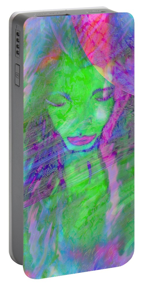 Colorful Portable Battery Charger featuring the digital art Leaving The Party by Melissa Nay