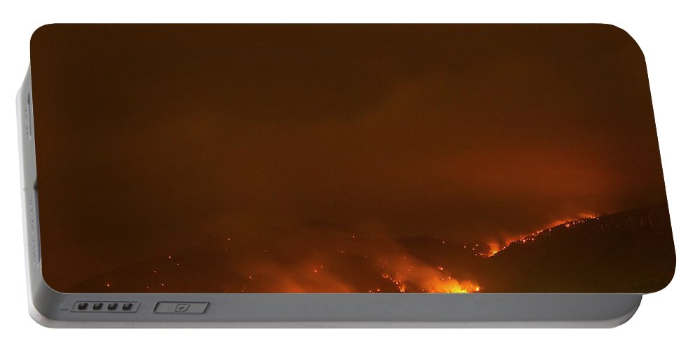 Lefthand Canyon Wildfire Portable Battery Charger featuring the photograph Lefthand Canyon Wildfire Boulder Colorado by James BO Insogna