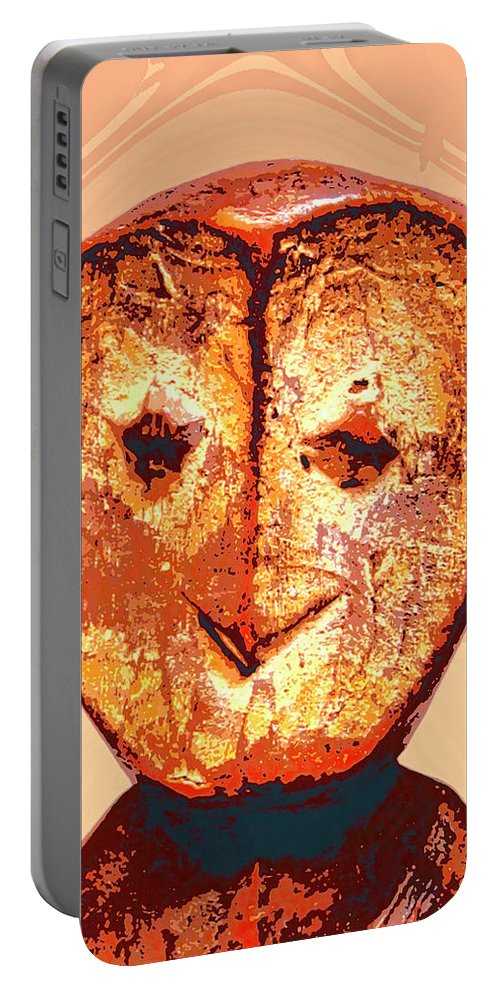 Africa Portable Battery Charger featuring the mixed media Lega Figure by Dominic Piperata
