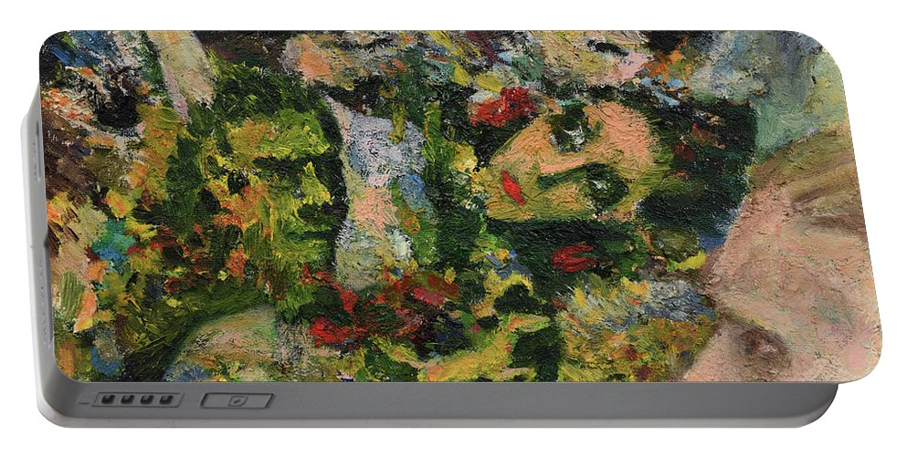 Face Portable Battery Charger featuring the painting Legacy - War by Oleg Konin