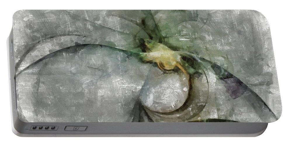 Ndr099 Portable Battery Charger featuring the painting Lemniscatic Fancy Id 16098-021154-72820 by S Lurk
