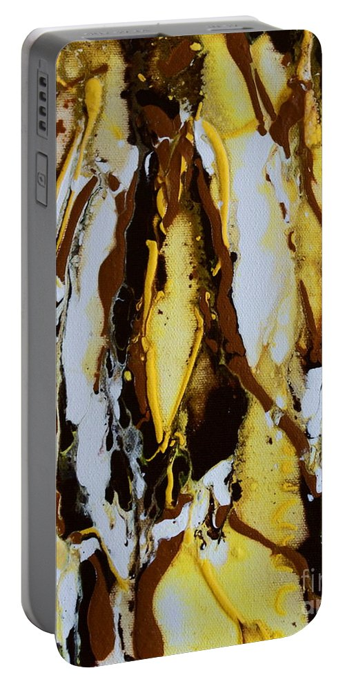 Lemons Ripples Figures Portable Battery Charger featuring the painting Lemon Twist by Joanne Smoley