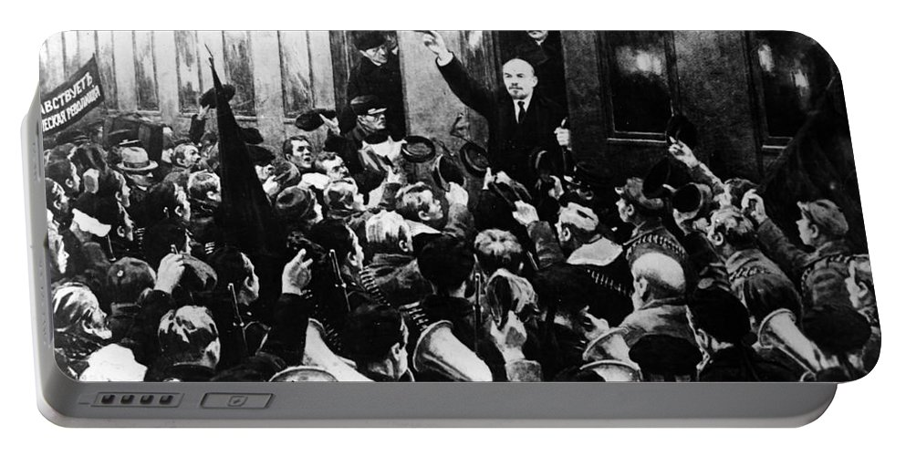 1930s Portable Battery Charger featuring the photograph Lenin At Finland Station by Granger