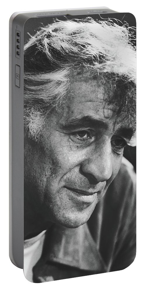 Leonard Bernstein Portable Battery Charger featuring the photograph Leonard Bernstein 1970 by Library Of Congress
