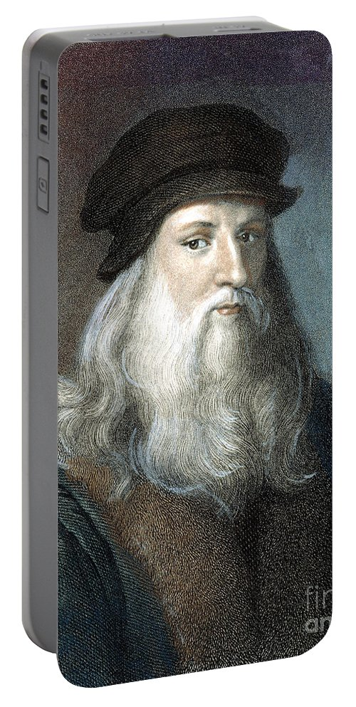 15th Century Portable Battery Charger featuring the photograph Leonardo Da Vinci - To License For Professional Use Visit Granger.com by Granger