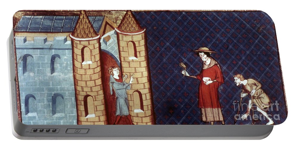13th Century Portable Battery Charger featuring the photograph Leper House, C1220-1244 by Granger