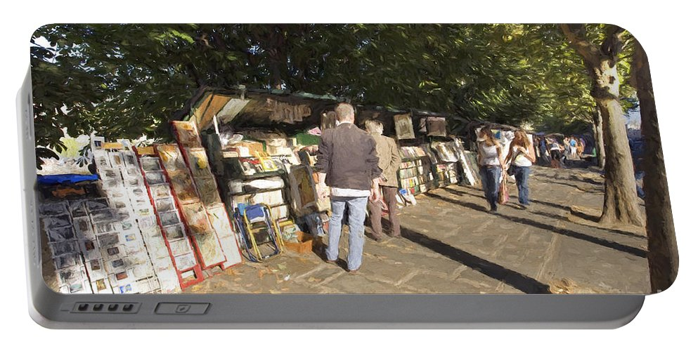 City Portable Battery Charger featuring the photograph Les Bouquinistes by Julie Woodhouse