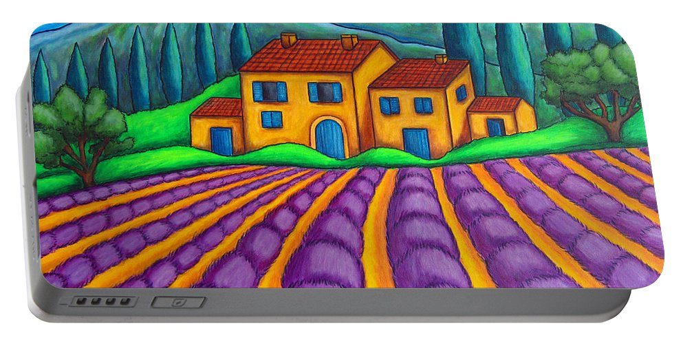 Provence Portable Battery Charger featuring the painting Les Couleurs De Provence by Lisa Lorenz