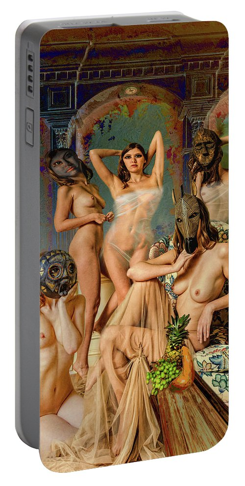 Picasso Portable Battery Charger featuring the photograph Les Demoiselles 4 by Mike Penney