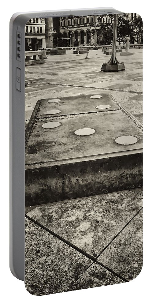 Domino Portable Battery Charger featuring the photograph Let The Domino's Fall by Bill Cannon