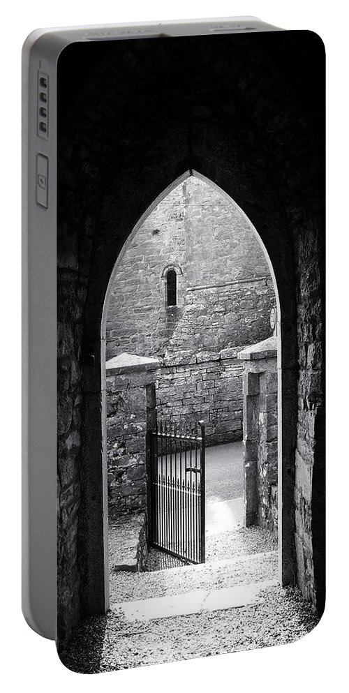 Irish Portable Battery Charger featuring the photograph Let There Be Light Cong Church And Abbey Cong Ireland by Teresa Mucha