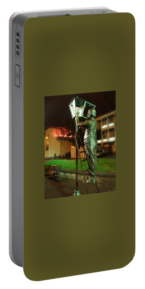 Evening Portable Battery Charger featuring the photograph Let There Be Light by Natalia Wallwork