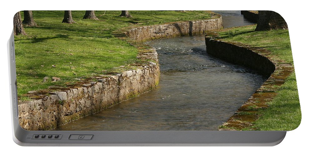 Creek Portable Battery Charger featuring the photograph Letort Spring Run by Jean Macaluso