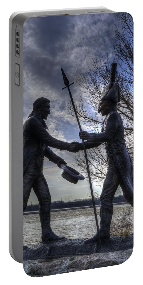 Lewis And Clark Portable Battery Charger featuring the photograph Lewis And Clark by FineArtRoyal Joshua Mimbs