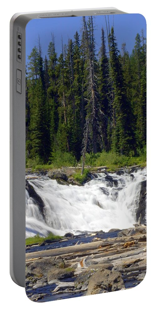 Lewis Falls Portable Battery Charger featuring the photograph Lewis Falls by Marty Koch