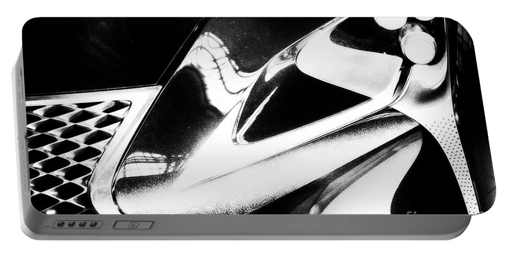 Lexus Portable Battery Charger featuring the photograph Lexus Bw Abstract by Tom Gari Gallery-Three-Photography