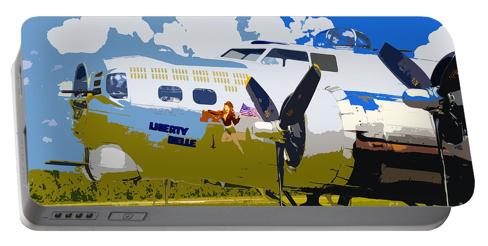 Flying Fortress Portable Battery Charger featuring the photograph Liberty Belle by David Lee Thompson