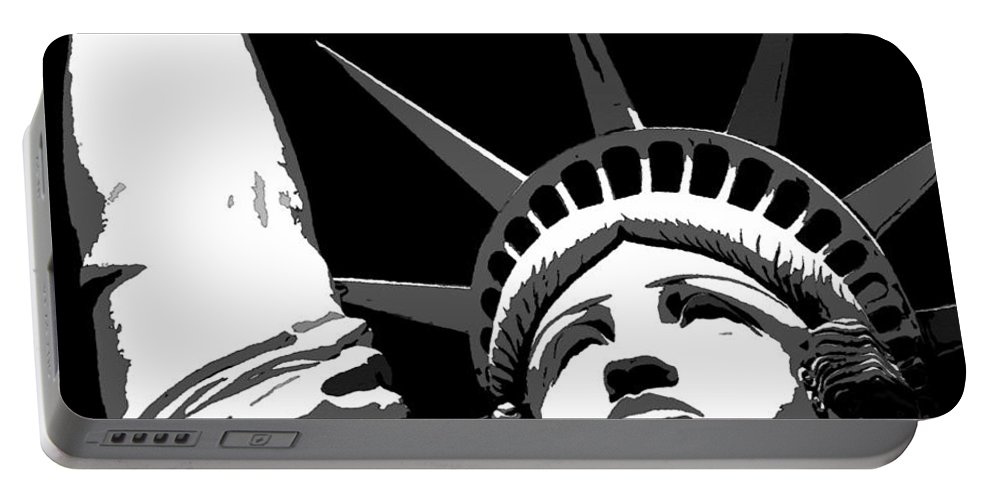 Liberty Portable Battery Charger featuring the painting Liberty Classic Work A by David Lee Thompson