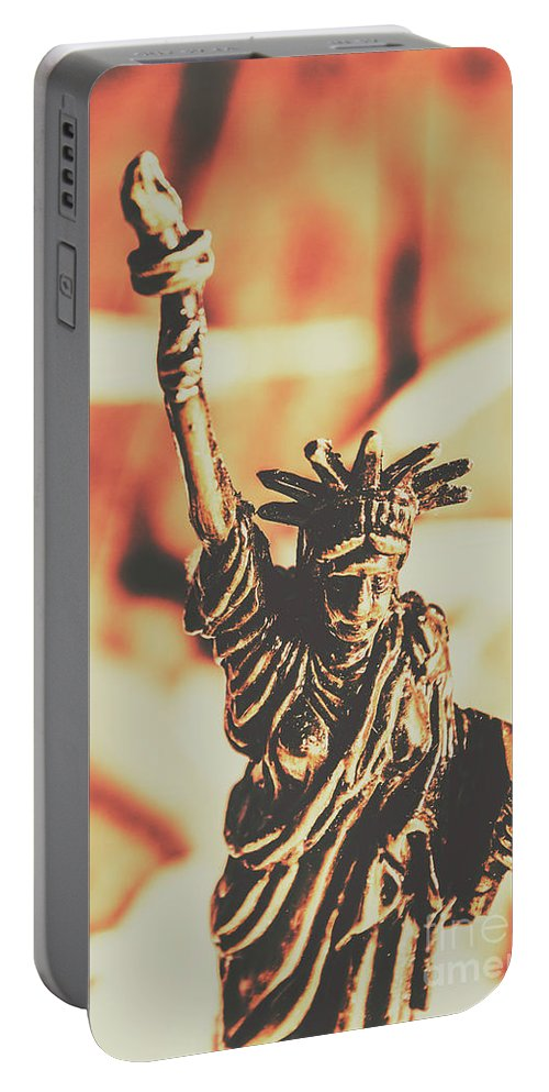Antique Portable Battery Charger featuring the photograph Liberty Will Enlighten The World by Jorgo Photography - Wall Art Gallery