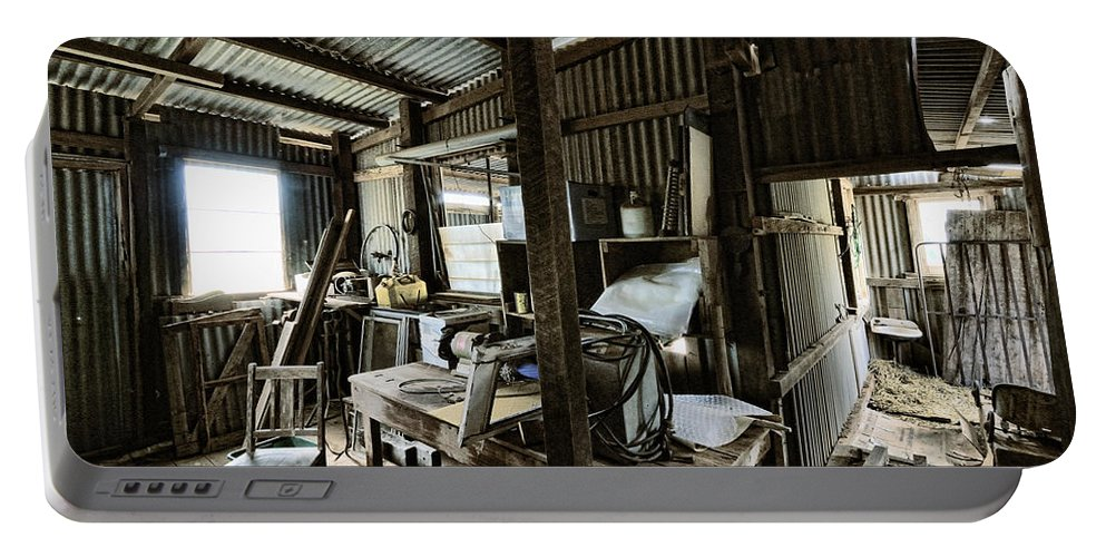 Shed Portable Battery Charger featuring the photograph Life As A Shed by Wayne Sherriff