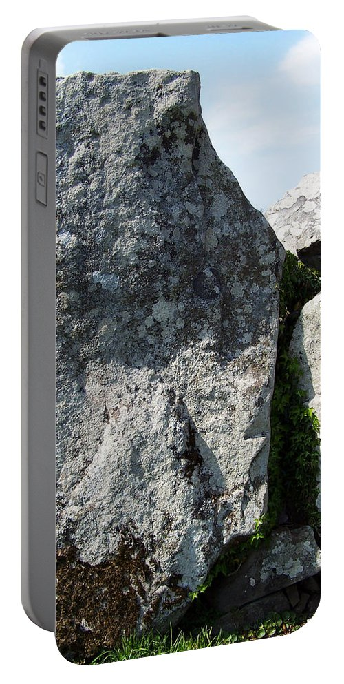 Irish Portable Battery Charger featuring the photograph Life At Creevykeel Court Cairn Sligo Ireland by Teresa Mucha