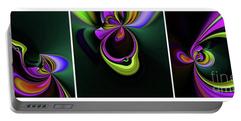 Abstract Portable Battery Charger featuring the photograph Life Begins by Elaine Hunter