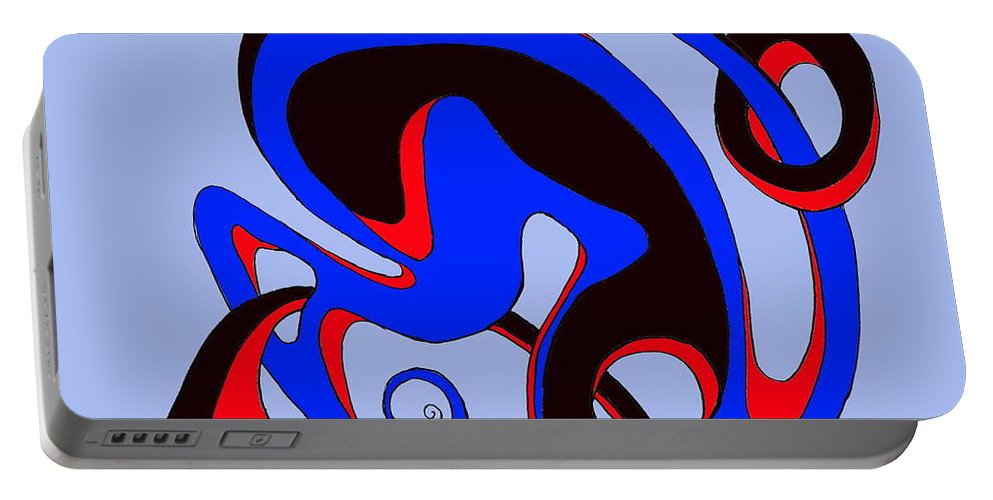 \ Portable Battery Charger featuring the digital art Life Circuits by Helmut Rottler