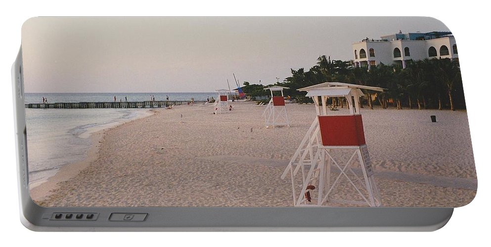 Water Portable Battery Charger featuring the photograph Life Guard 3 D by Michelle Powell