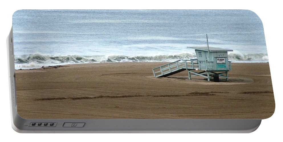 Beach Portable Battery Charger featuring the photograph Life Guard Stand - Color by Shari Chavira