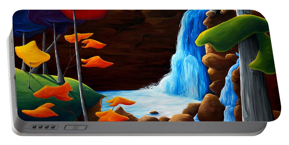 Landscape Portable Battery Charger featuring the painting Life In Progress by Richard Hoedl