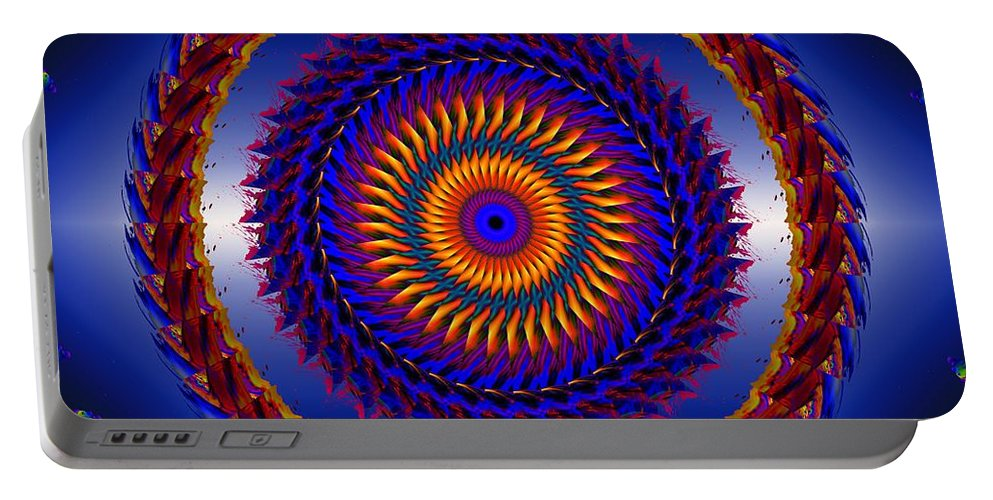 Circle Portable Battery Charger featuring the digital art Life Is Good by Robert Orinski