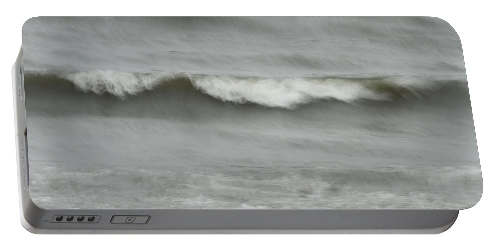 Coastal Portable Battery Charger featuring the photograph Life Is Like A Wave by Karol Livote