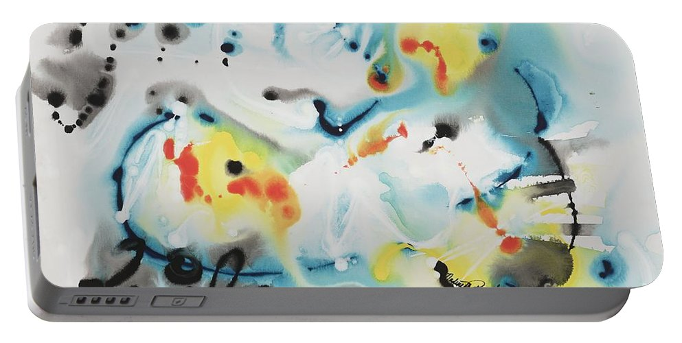 Life Portable Battery Charger featuring the painting Life by Nadine Rippelmeyer