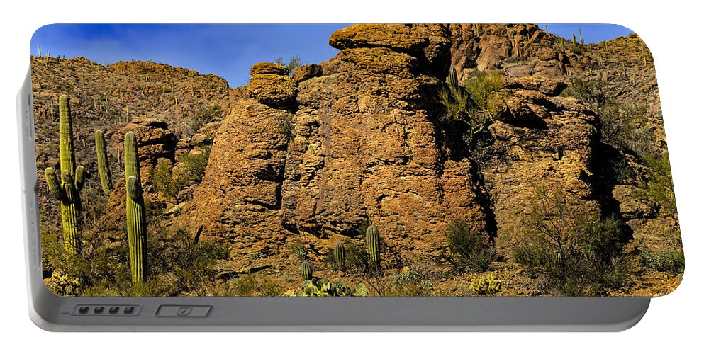 2015 Portable Battery Charger featuring the photograph Life On The Rocks by Mark Myhaver
