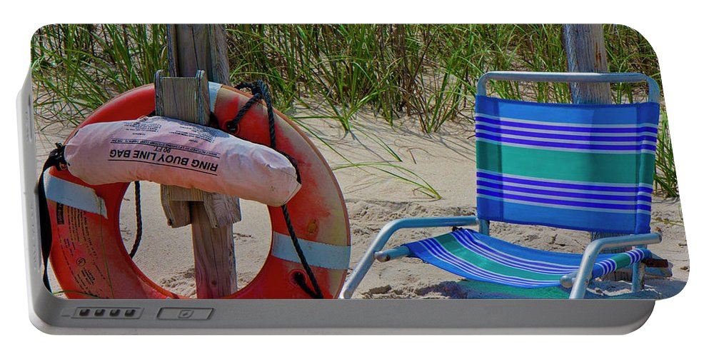 Bald Portable Battery Charger featuring the photograph Life Saver by Betsy Knapp