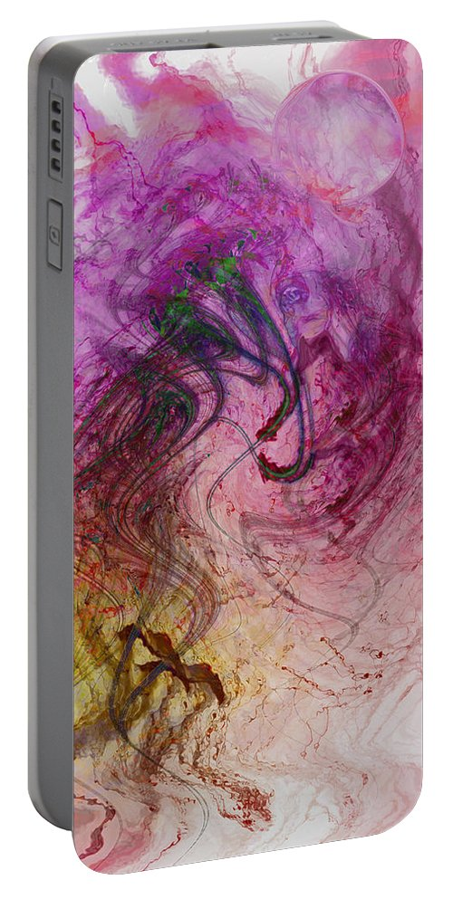 Life Art Portable Battery Charger featuring the digital art Life Vibrations by Linda Sannuti