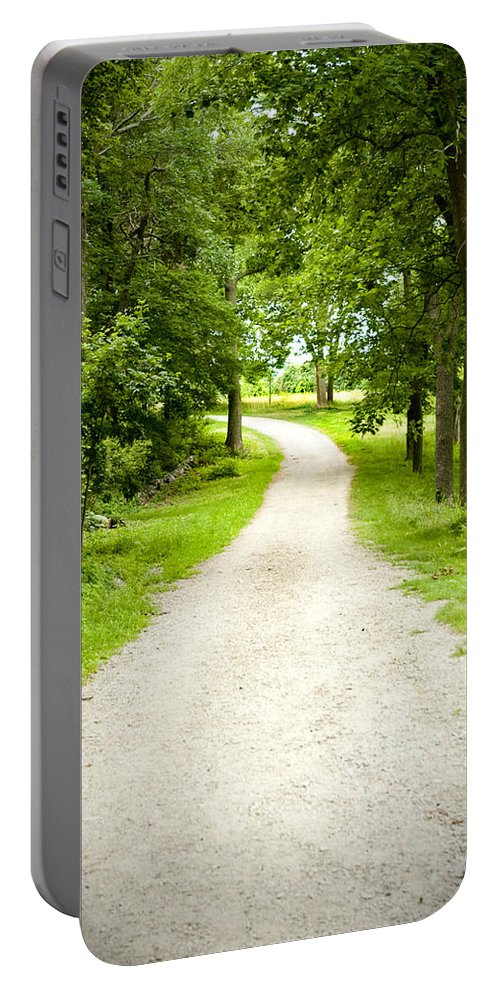 Woods Portable Battery Charger featuring the photograph Life's Path by Greg Fortier