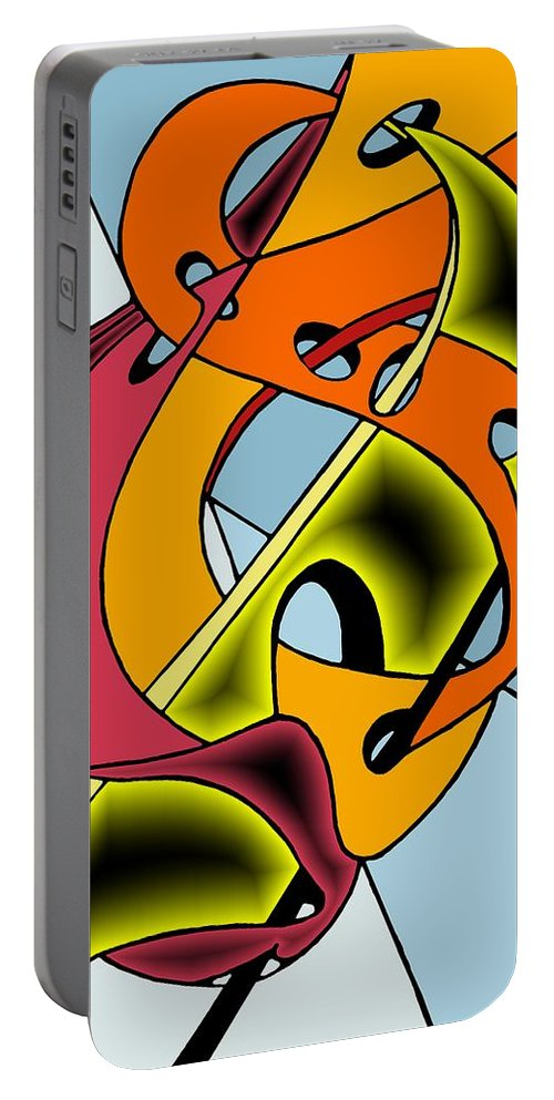 Lifeways Portable Battery Charger featuring the digital art Lifeways by Helmut Rottler