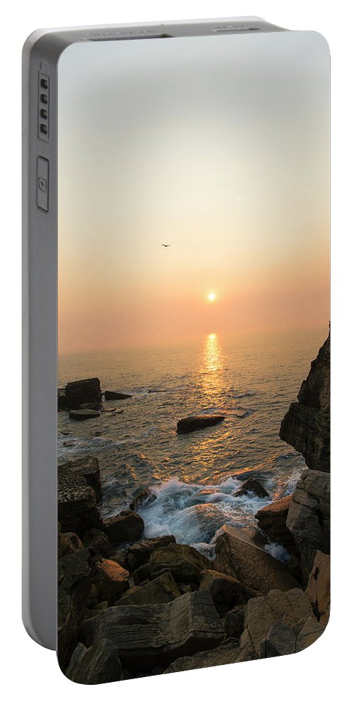 Beach Portable Battery Charger featuring the photograph Light Beam by Edgar Laureano