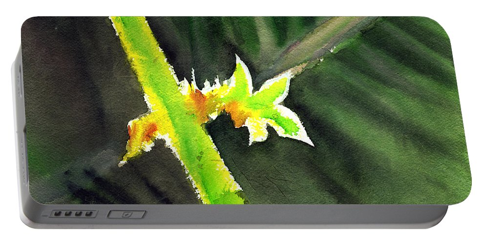 Water Color Portable Battery Charger featuring the painting Light Branch by Anil Nene