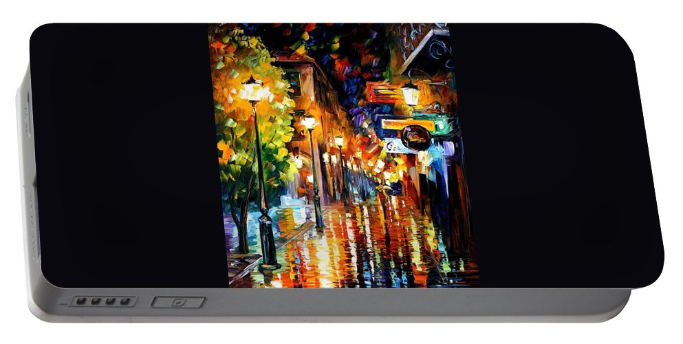 Afremov Portable Battery Charger featuring the painting Light Fiesta by Leonid Afremov