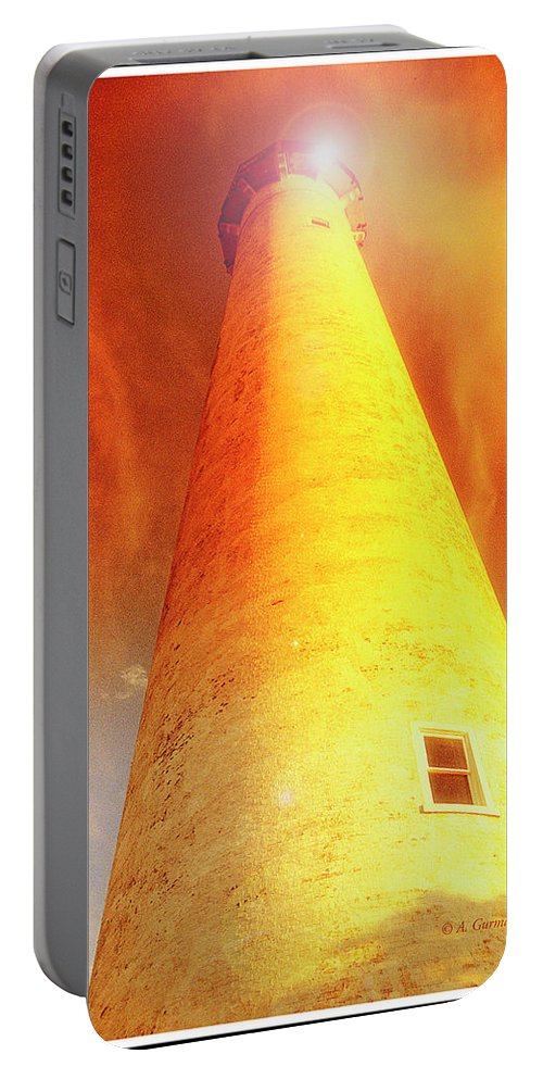 Lighthouse Portable Battery Charger featuring the photograph Light House At Sunset, Cape May, Nj by A Gurmankin