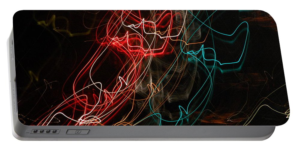 Abstract Digital Photo Portable Battery Charger featuring the photograph Light In Motion by David Lane