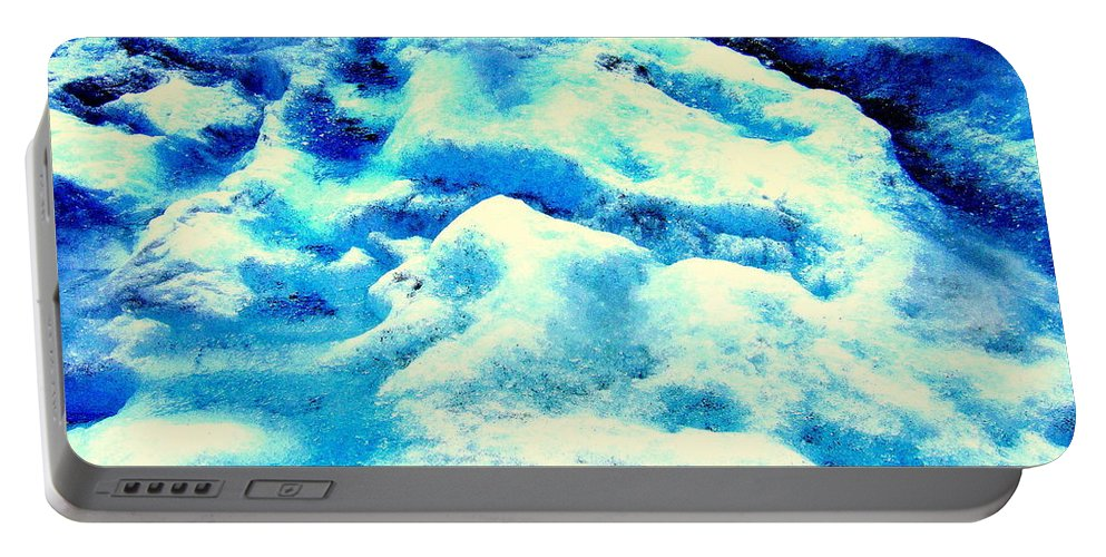 Light Portable Battery Charger featuring the photograph Light On Glacier by Kumiko Mayer