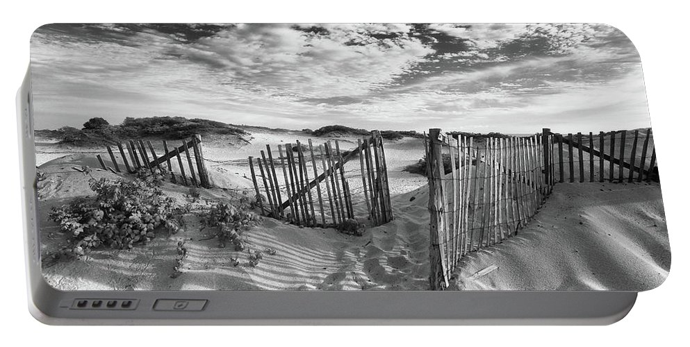 Landscape Portable Battery Charger featuring the photograph Light Over The Dunes by John Rizzitelli