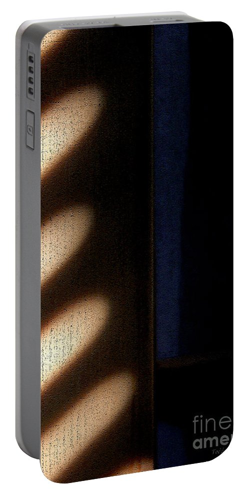 Abstract Portable Battery Charger featuring the digital art Light Rays by Todd Blanchard