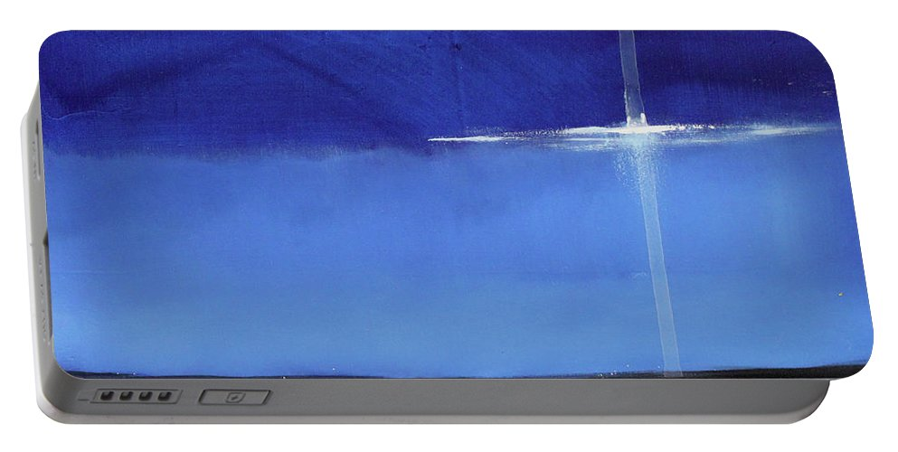 Night Portable Battery Charger featuring the painting Light Sail by Toni Grote