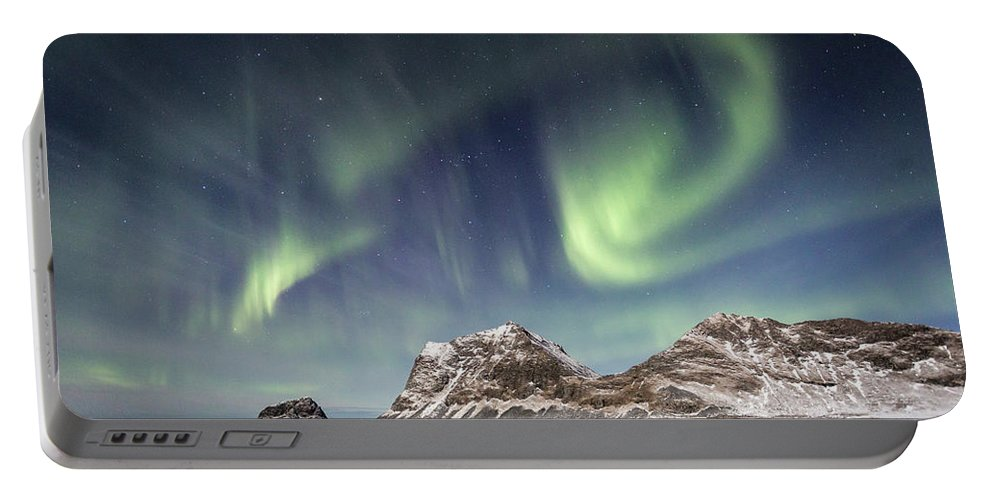 Northern Lights Portable Battery Charger featuring the photograph Light Show by Alex Conu