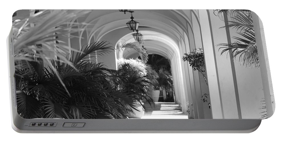 Architecture Portable Battery Charger featuring the photograph Lighted Arches by Rob Hans