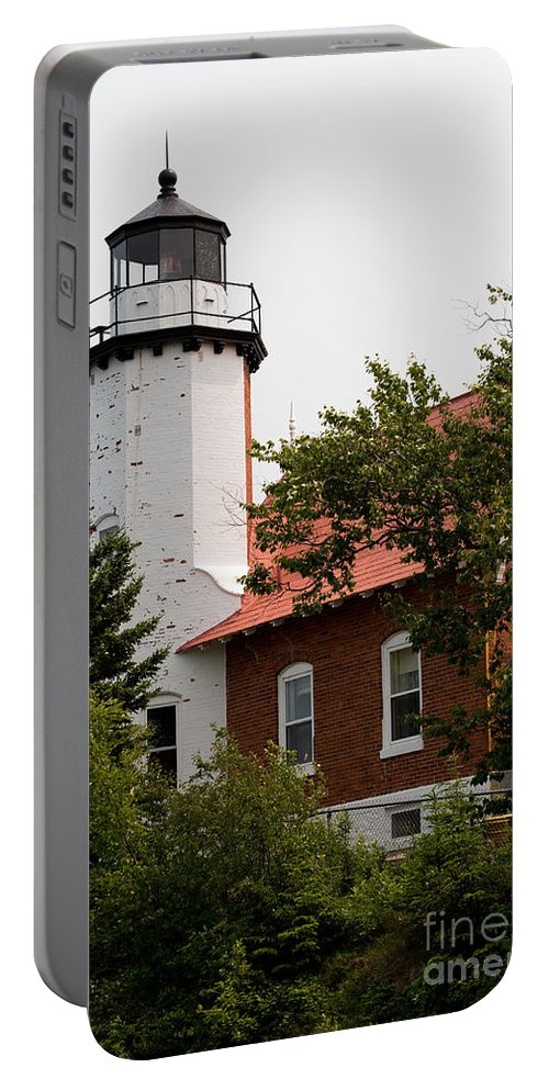 Lighthouse Portable Battery Charger featuring the photograph Lighthouse 1 by Wesley Farnsworth